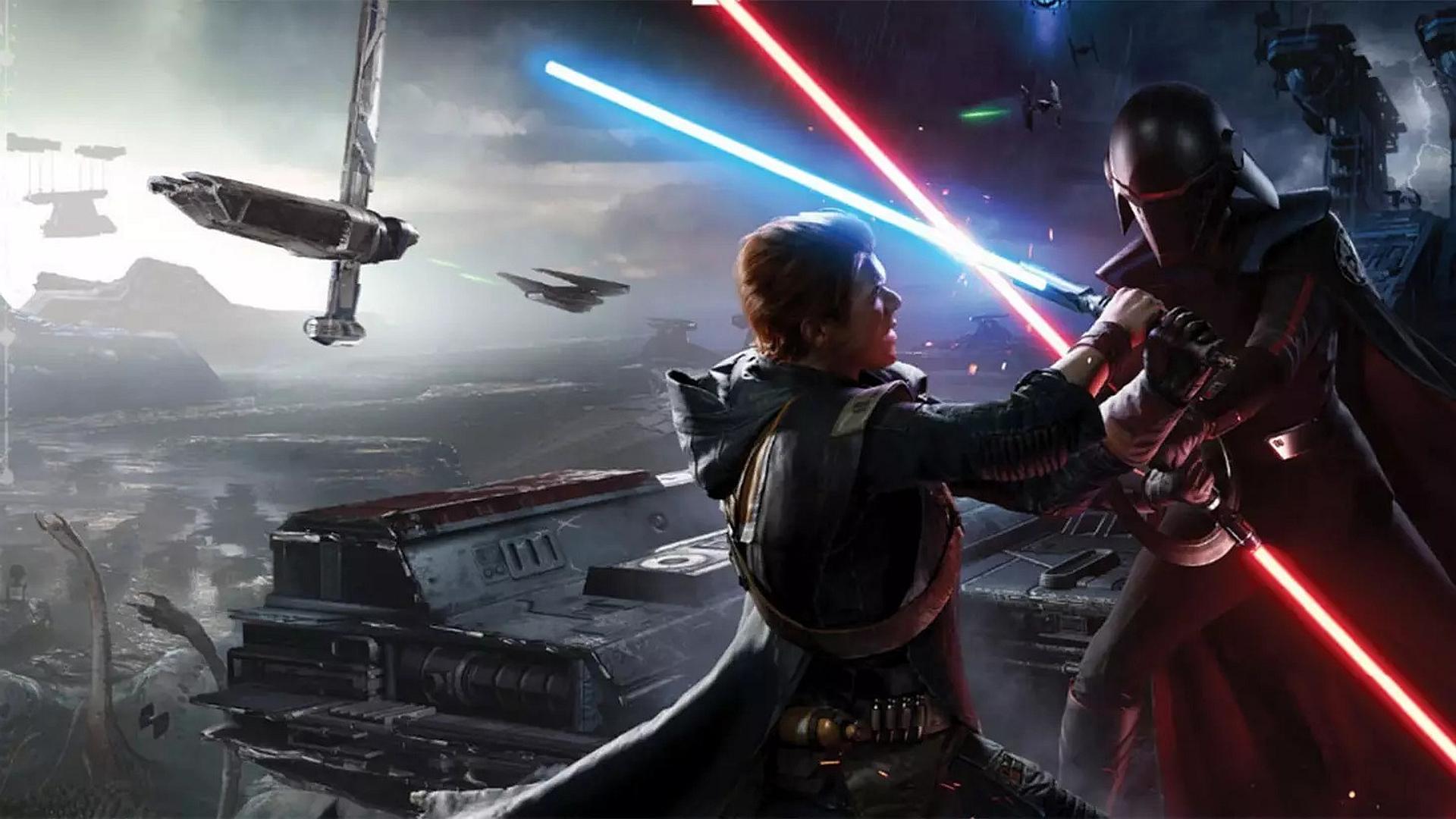cal lightsaber fight jedi fallen order