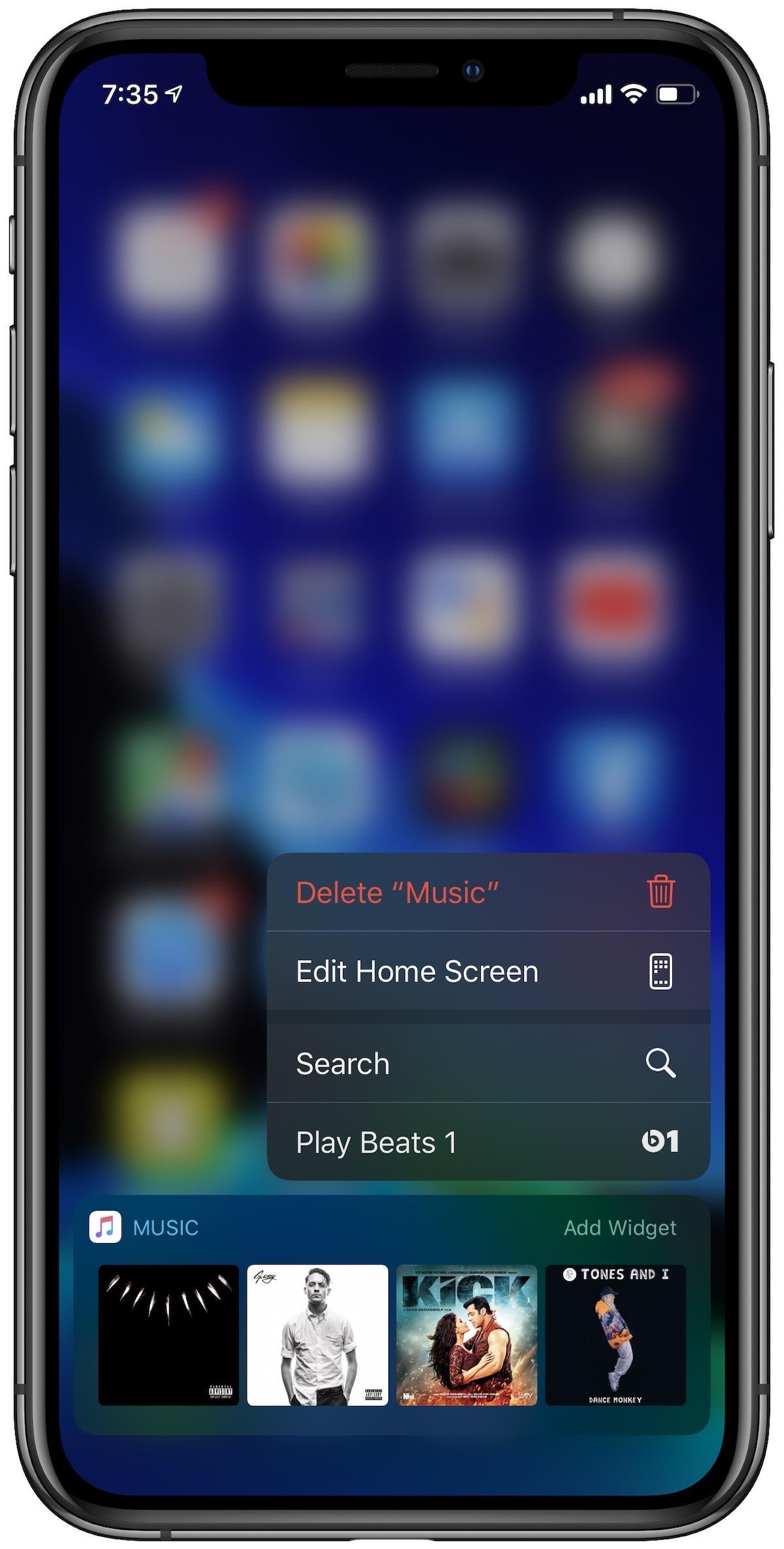 iOS 13.2 beta 2 Delete app and edit homescreen