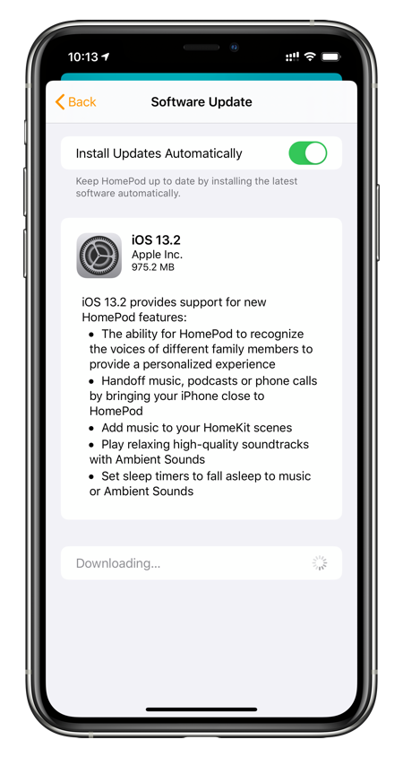 iOS 13.2 for HomePod changelog