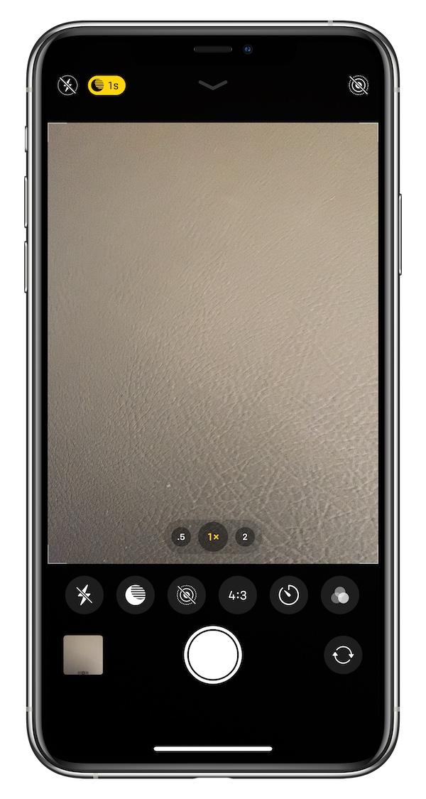 iPhone 11 Pro Camera app Settings