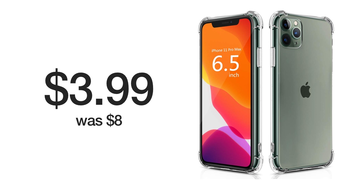 iPhone 11 Pro Max Clear Case for just $3.99