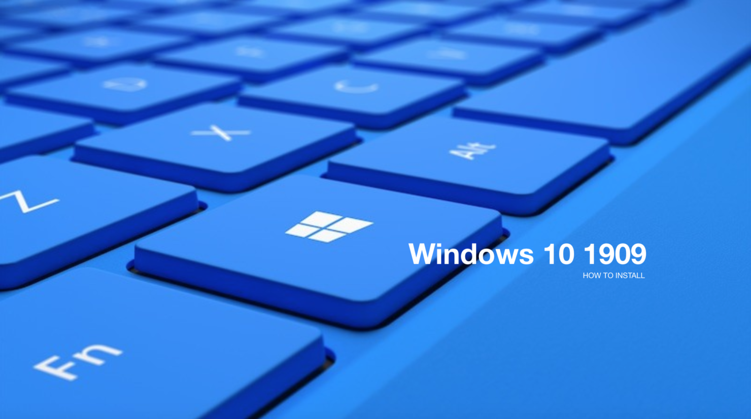 install windows 10 1909