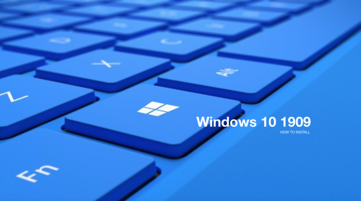 install windows 10 1909
