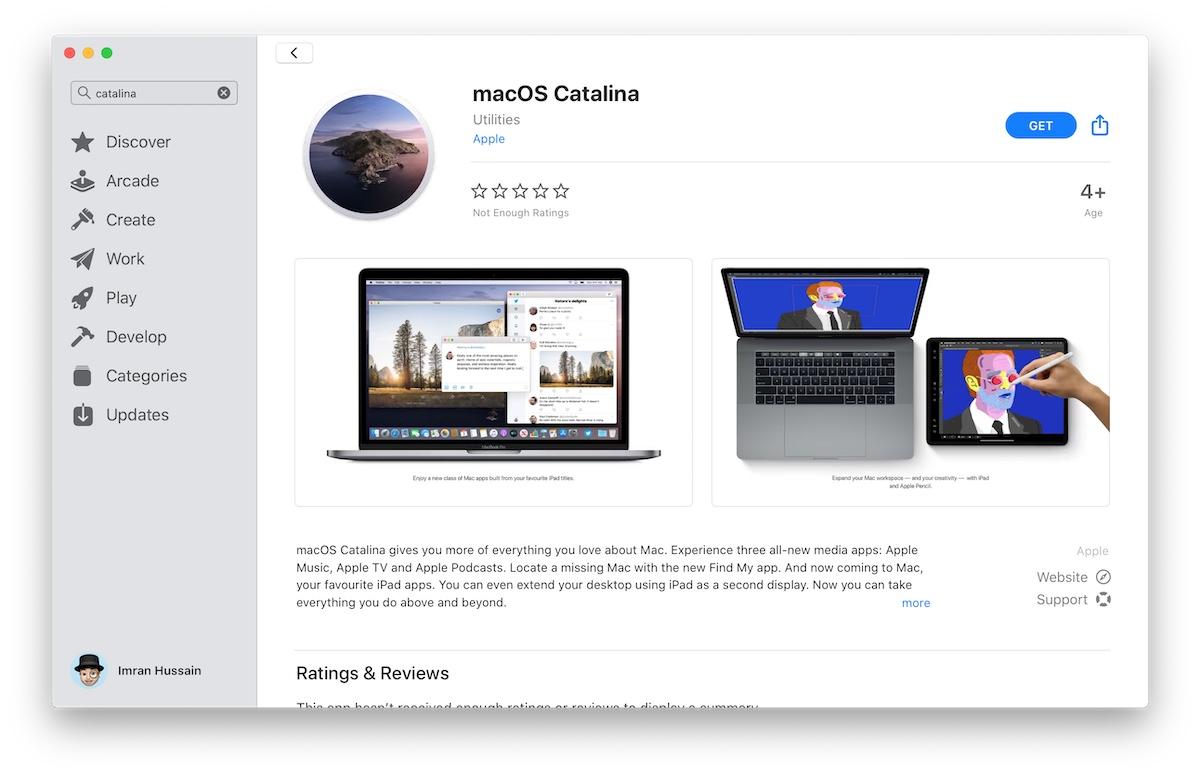 macOS Catalina Mac App Store