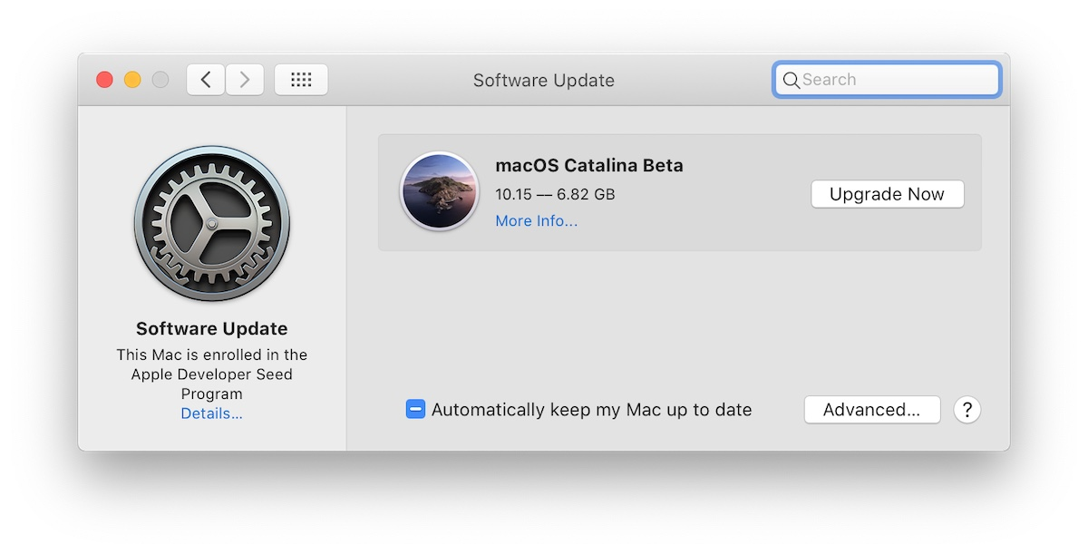 macOS Catalina beta Apple Developer Seed Program