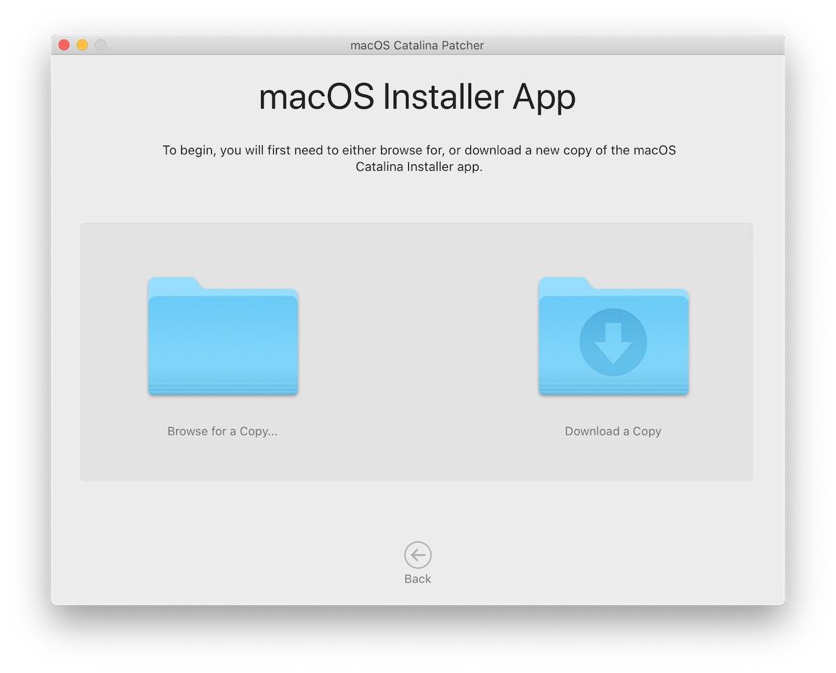 macOS Catalina installer app
