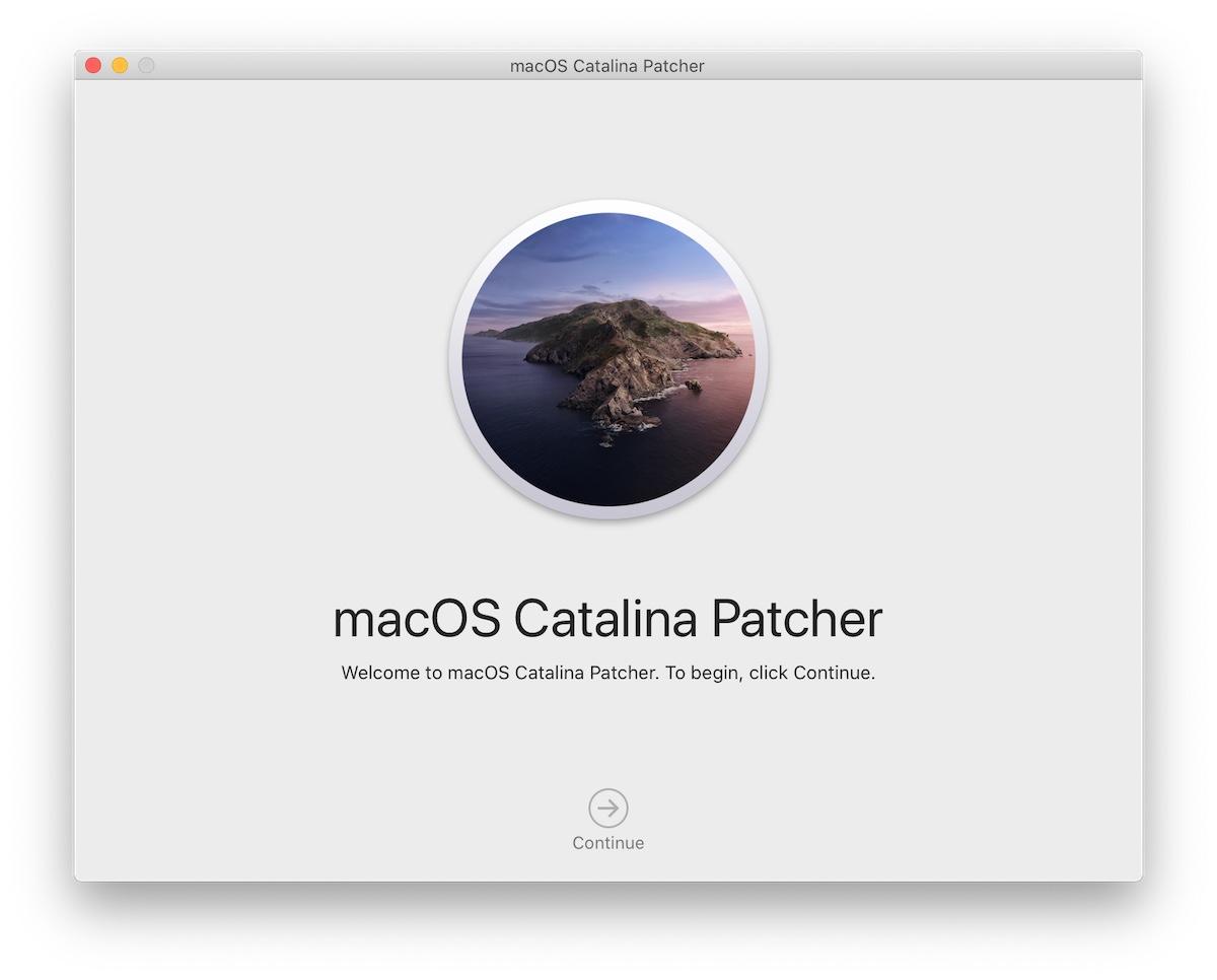 macOS Catalina patcher setup