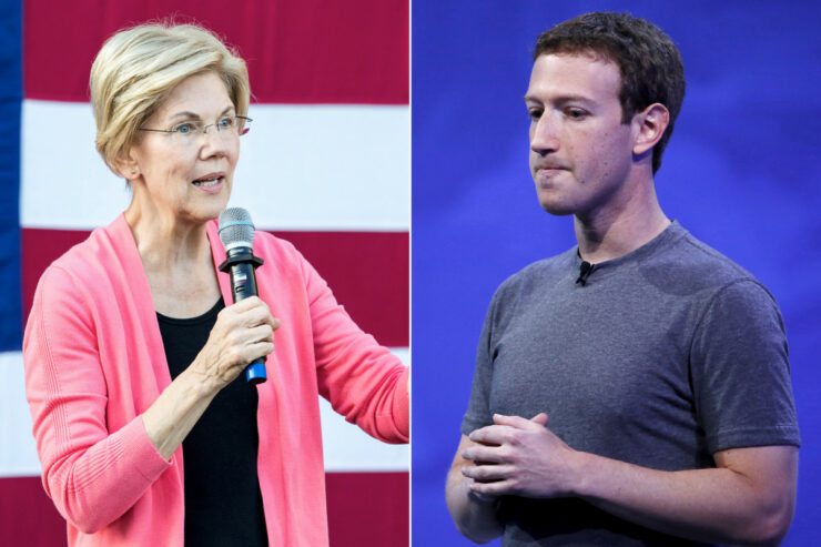 mark zuckerberg elizabeth warren