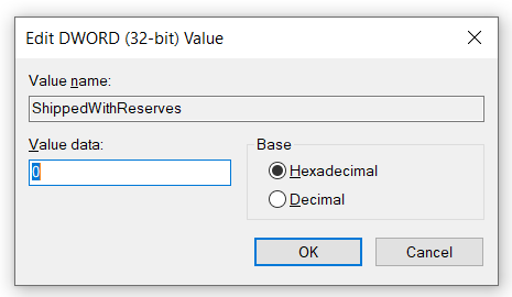 disable reserved storage