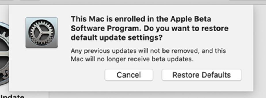 unenroll your Mac