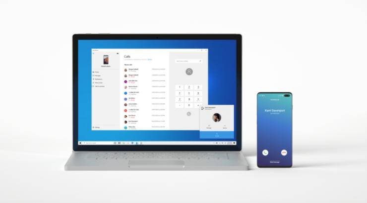 windows 10 2020 your phone calls