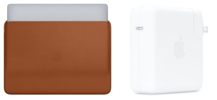16-inch MacBook Pro Leather Sleeve and 96W Power Adapter is now official