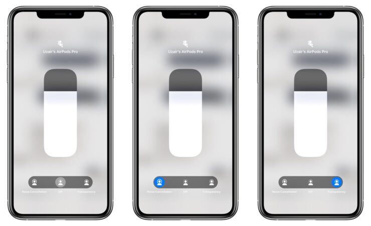 AirPods Pro Control Center iOS iPadOS