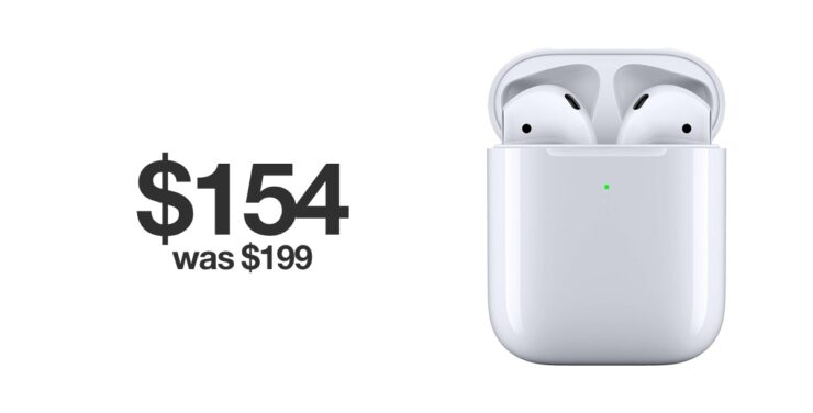 AirPods 2 with Wireless Charging Case $44 off for Black Friday 2019