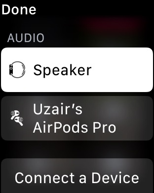 Apple Watch Audio