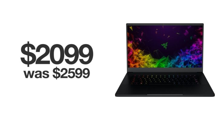 Razer Blade 15 gaming laptop discounted