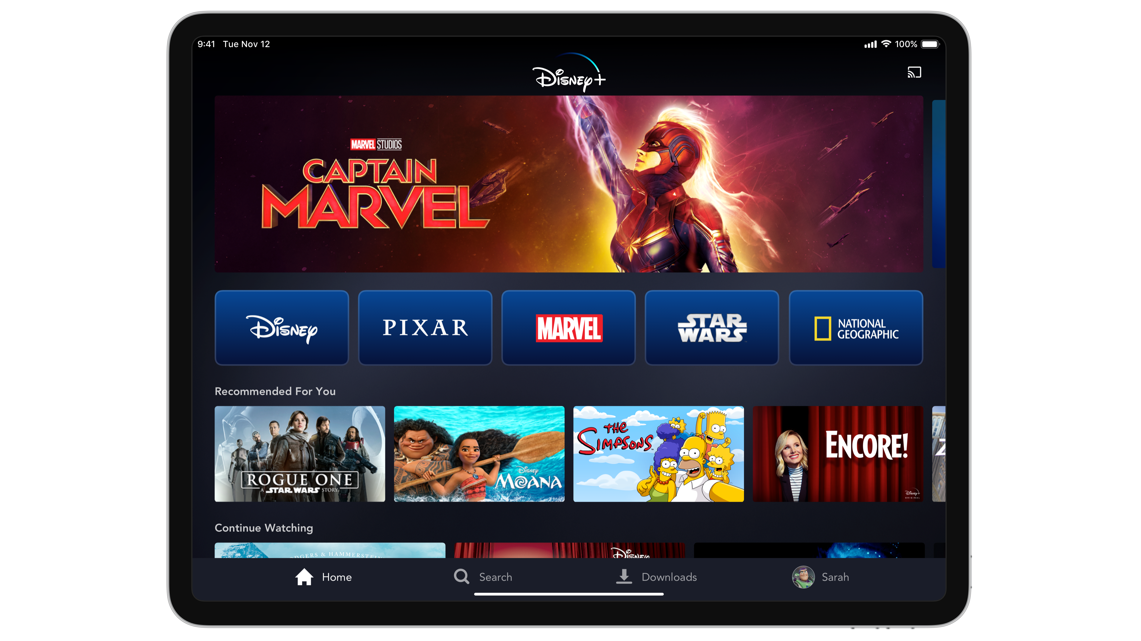 Disney+ App for iOS and Android