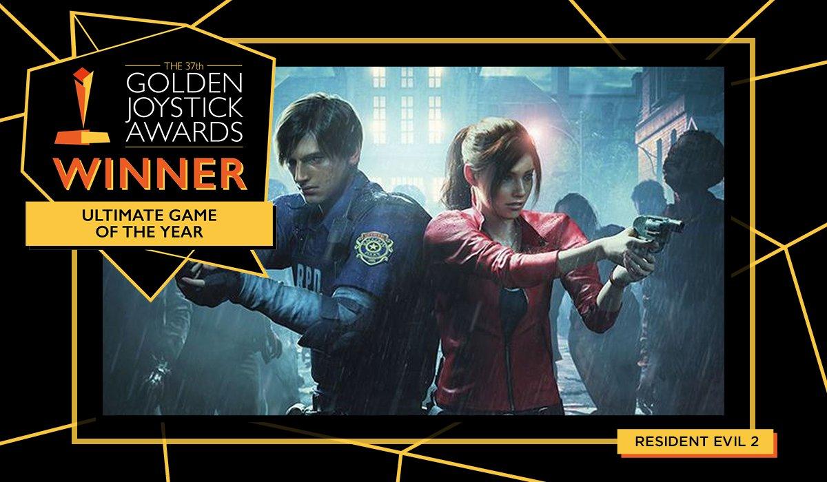 Image result for golden joystick awards resident evil 2