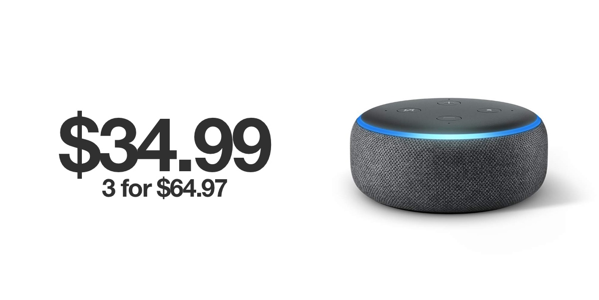 Crazy Black Friday Deal Echo Dot For 34 99 Buy 3 For Just 21 Apiece