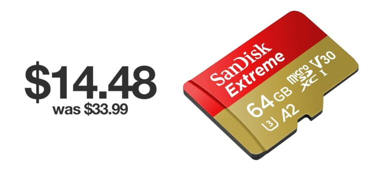 SanDisk Extreme microSD discounted for Black Friday