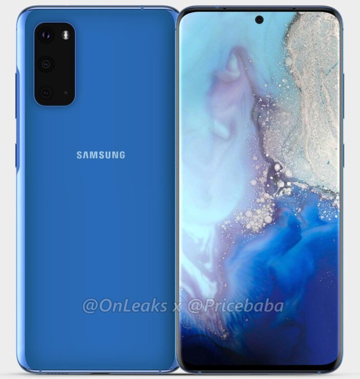 Galaxy S11e Design Looks Similar to Galaxy S11's in Fresh Renders