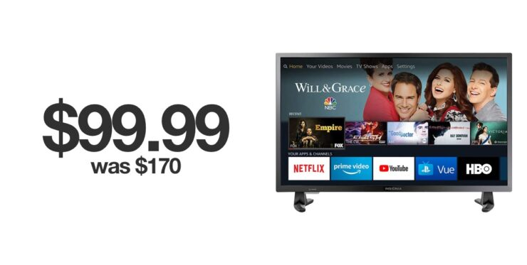Insignia 32-inch Fire TV Edition LED TV discounted to $99.99
