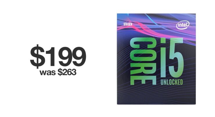 Core i5-9600K discounted to $199 for Black Friday 2019