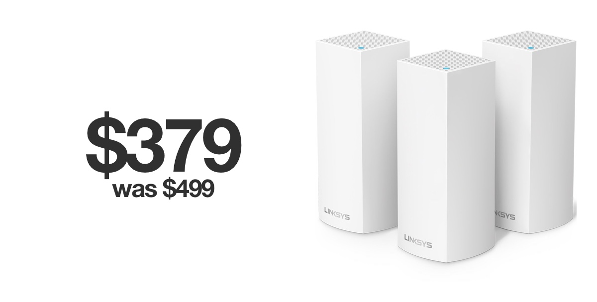 Linksys Velop Tri Band Mesh Wifi System 150 Off For Black Friday 2019
