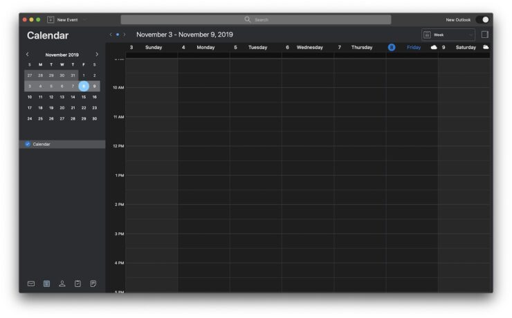 Outlook for Mac Calendar