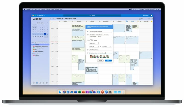 Outlook for Mac new calendar design