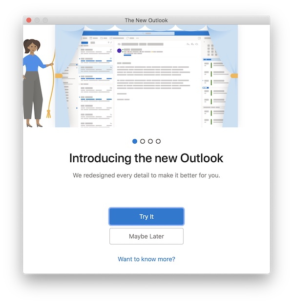 Outlook for Mac onboarding 1