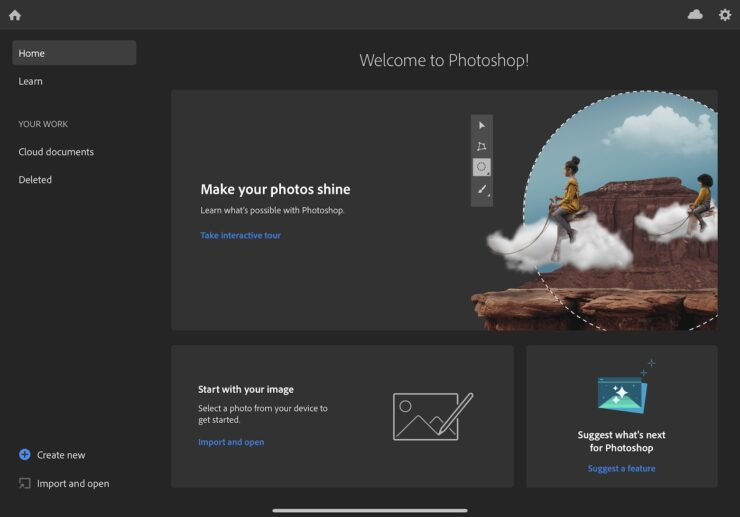 Photoshop for iPad 2
