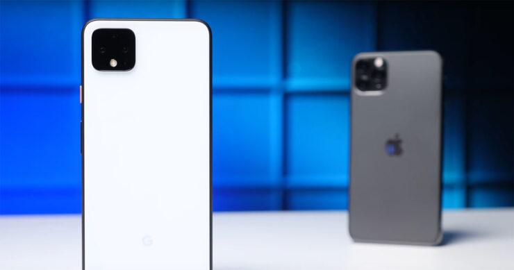 Pixel 4 XL vs iPhone 11 Pro Max speed test