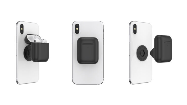 The PopGrip AirPods Holder Sticks to Your iPhone and Carries Around Your Wireless Earbuds at the Same Time