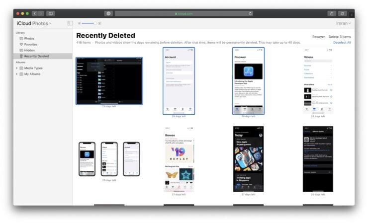 Recover iCloud Photos