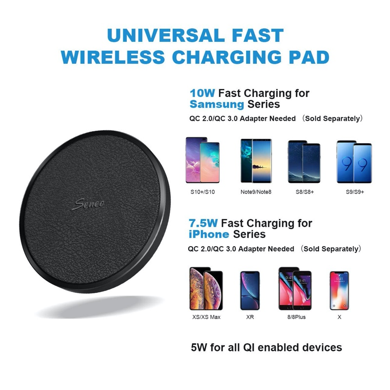 Seneo Wireless Charger supports 10W charging