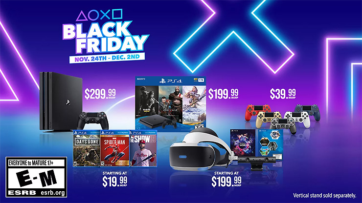 PlayStation Black Friday Deals Include 1TB PS4 with 3 Game