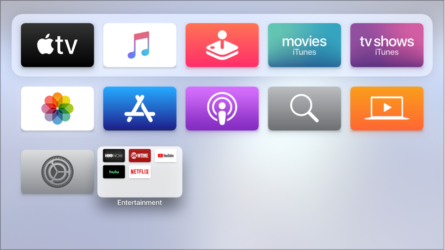 customize Apple TV home screen by setting light or dark theme