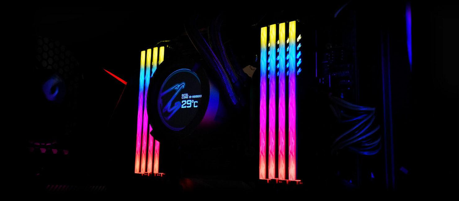 AORUS RGB Memory With AORUS AIO Cooler