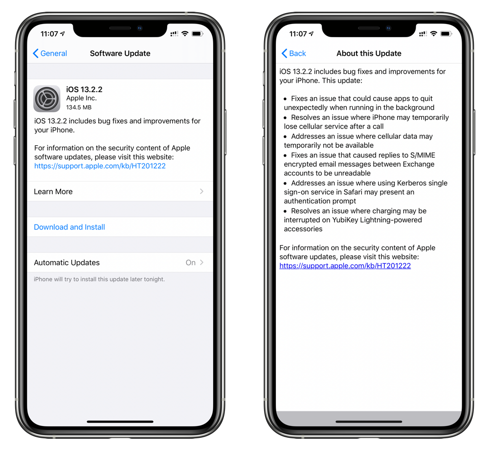 download iOS 13.2.2 for your iPhone