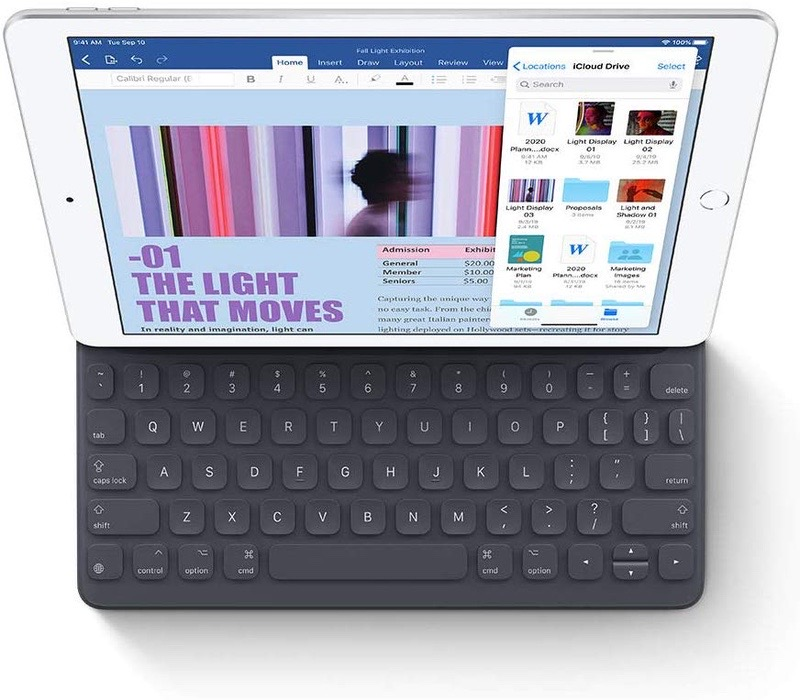 10.2-inch iPad 7 works with Apple's Smart Keyboard accessory