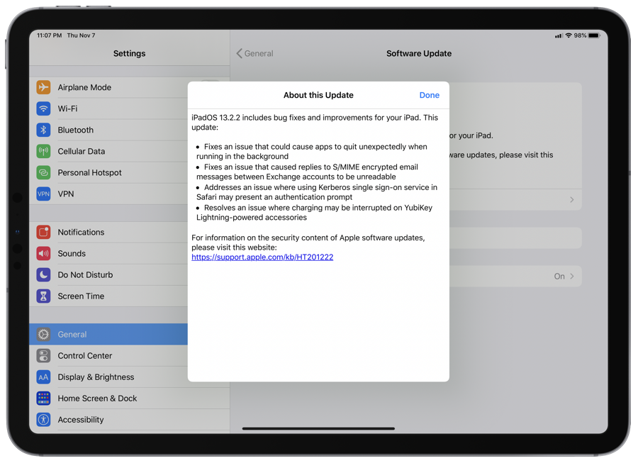download iPadOS 13.2.2 for iPad [Changelog]
