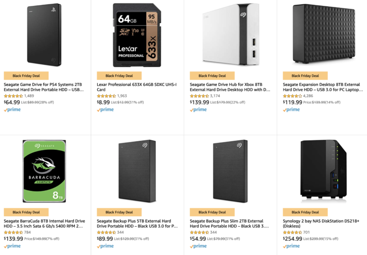 Black Friday sale on memory cards, backup drives and more