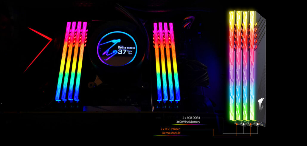 AORUS RGB Memory Lit up!