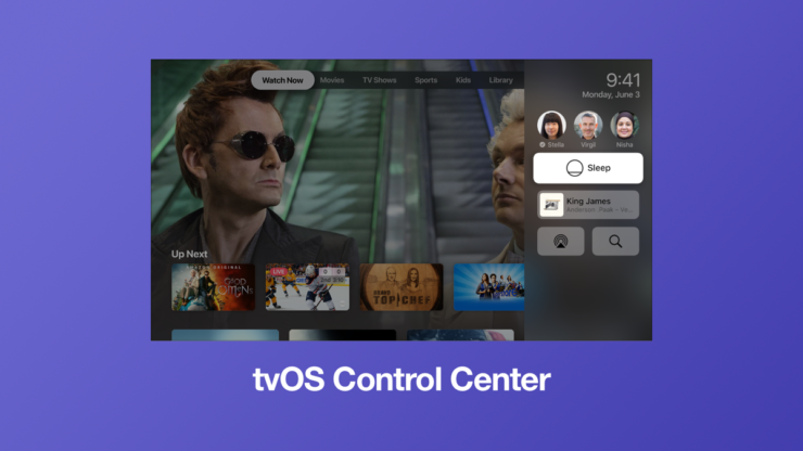 How to Use tvOS Control Center