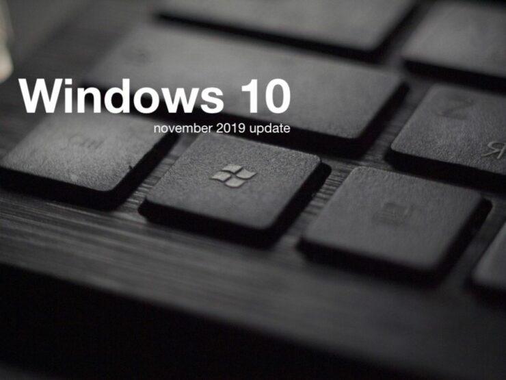 windows 10 1909 november 2019 update