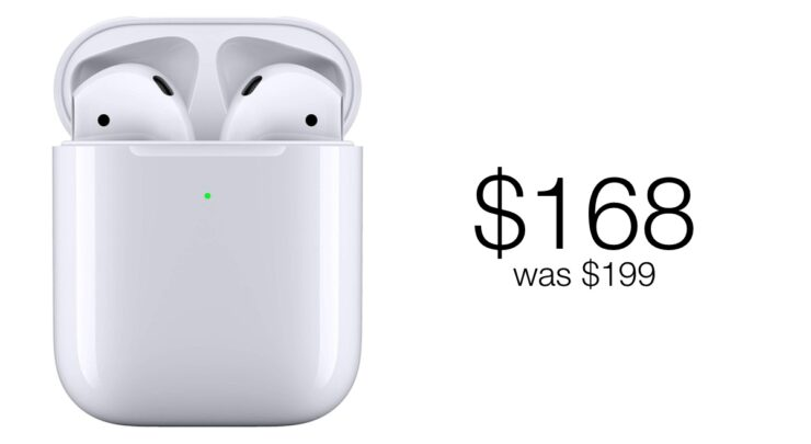 AirPods with Wireless Charging Case discounted to $168