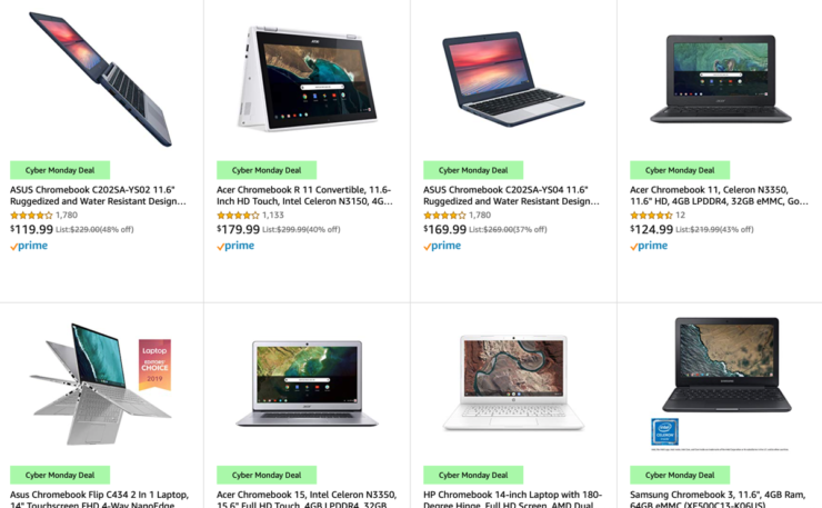 Chromebook deals for Cyber Monday