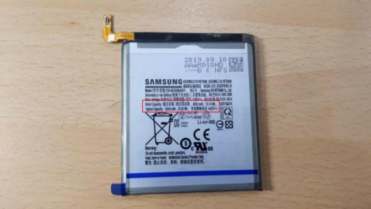 Galaxy S11 battery 5000 mAh