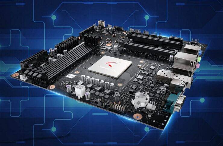 Huawei Desktop PC Motherboard With Kunpeng 920 ARM v8 CPUs_